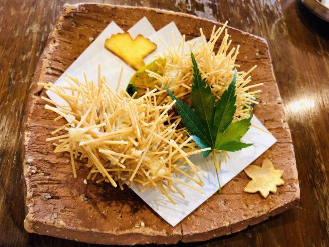 栗の天ぷら